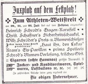 Athletenwettstreit auf dem Juxplatz  SZ Nr.58 20 07 1912