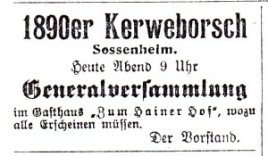SZ Nr. 55 10071909 Generalvers 1890er KB