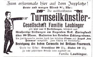 SZ Nr. 58 23 07 1910 Turmseilkünstler auf dem Juxplatz